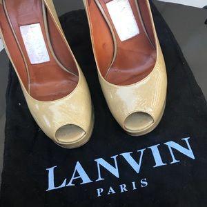 LANVIN PEEP TOES
